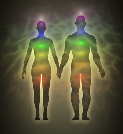 Chakras and Auras of a Man and Woman